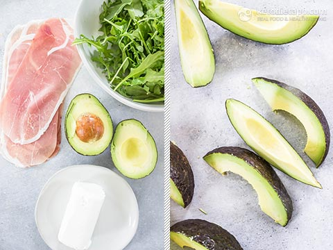 Easy Avocado & Goat Cheese Prosciutto Roll-Ups
