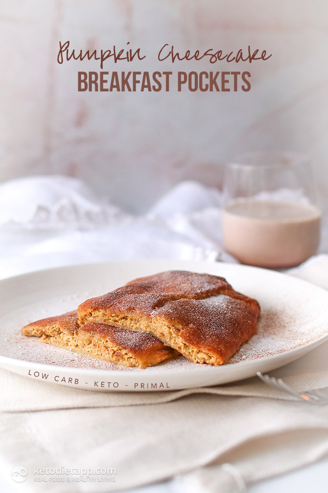 Keto Pumpkin Cheesecake Breakfast Pockets