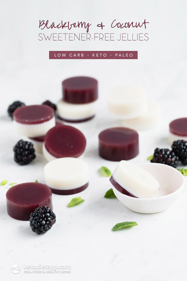 Blackberry & Coconut Sweetener-Free Keto Jellies