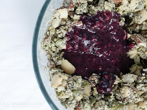 Healthy Blueberry Chia Crisp