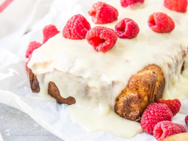 Healthy Low-Carb Raspberry Lemon Loaf