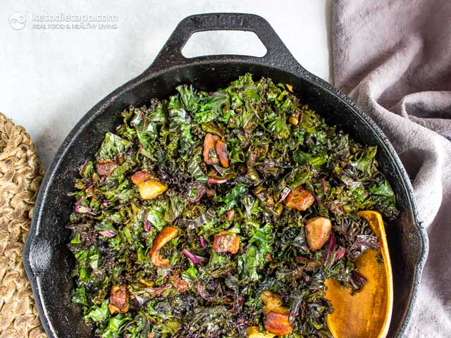 6-Ingredient Keto Pork Belly Kale