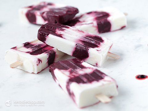 Keto Blackberry Yogurt Popsicles