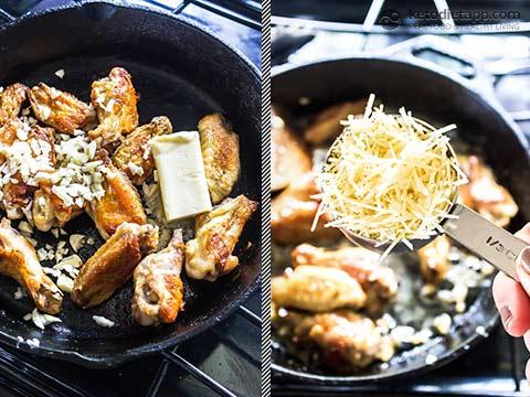 Keto Garlic Parmesan Chicken Wings