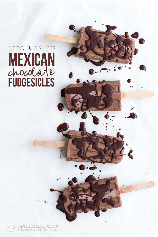 Healthy Mexican Chocolate Fudgesicles