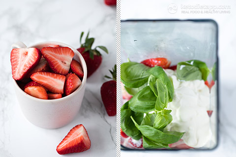 Healthy Strawberry Basil Smoothie