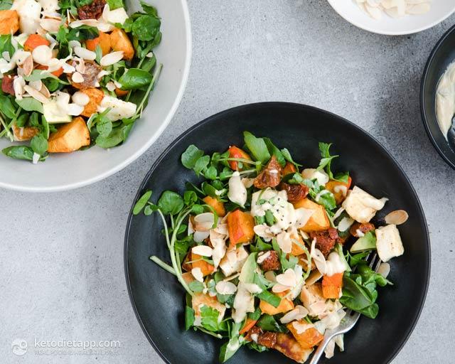 Low-Carb Roast Pumpkin & Halloumi Salad