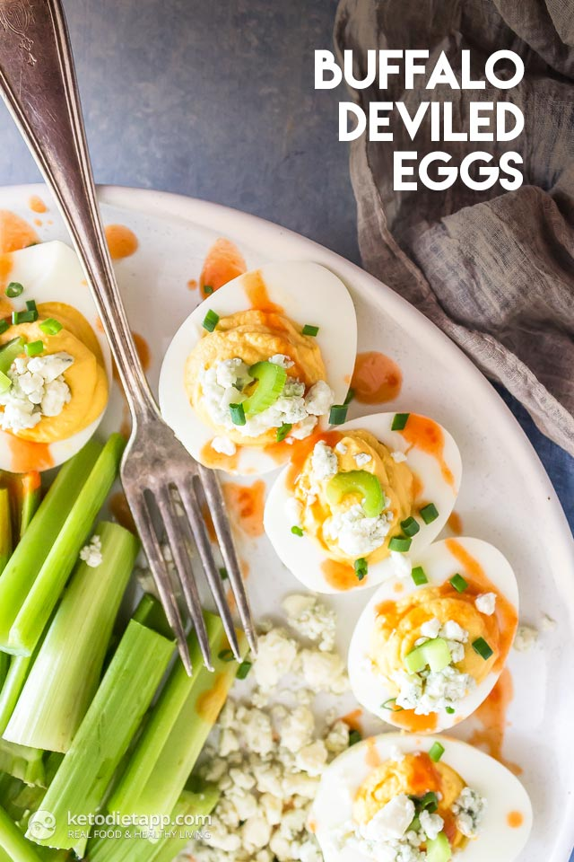 Healthy Keto Buffalo Deviled Eggs