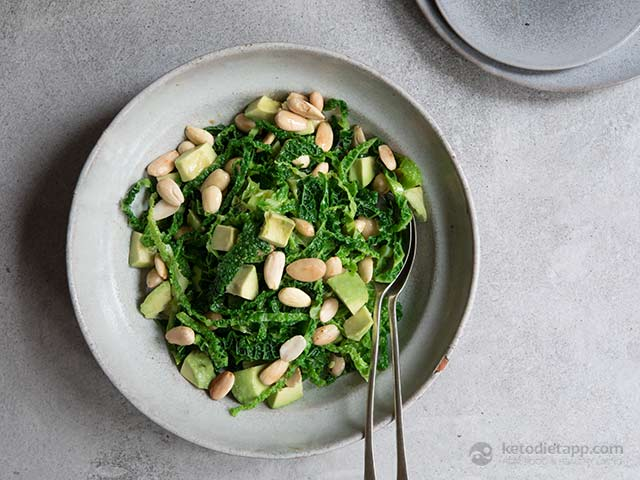Easy Cabbage, Avocado & Almond Side Salad