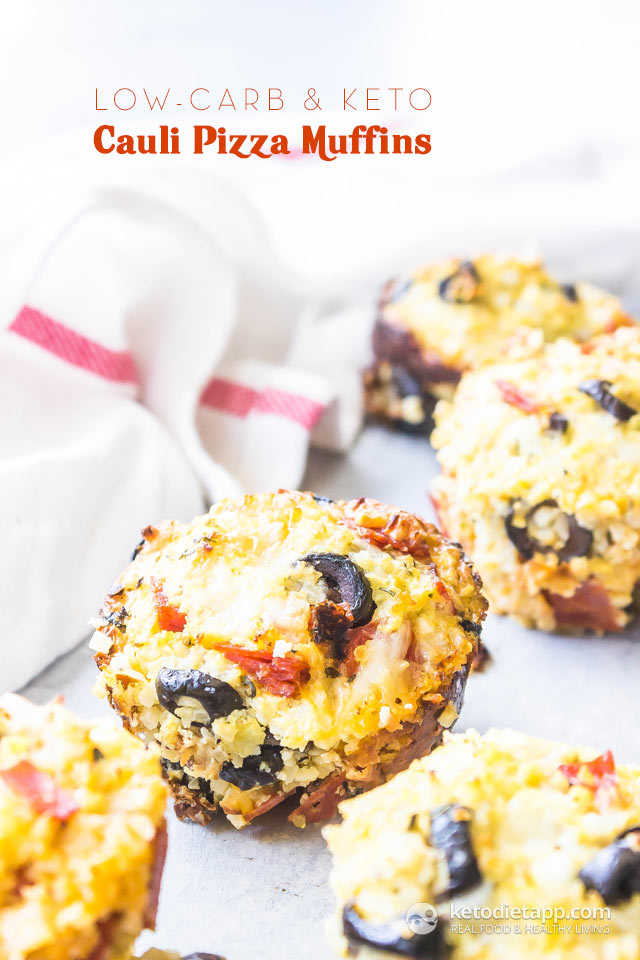 Keto Cauliflower Pizza Muffins