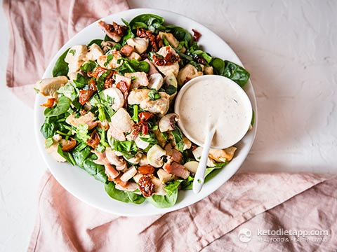 Healthy Chicken, Bacon & Spinach Salad