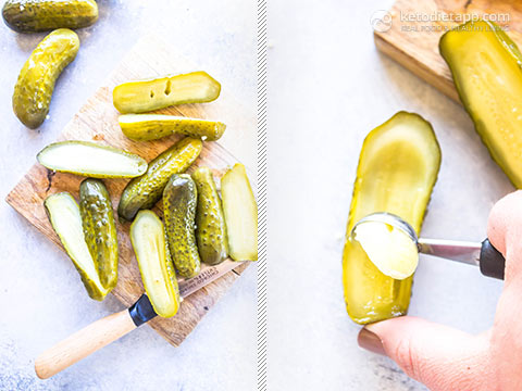 Easy Keto Pickle Poppers