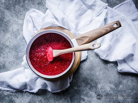 Sugar-Free Raspberry Balsamic Chia Jam