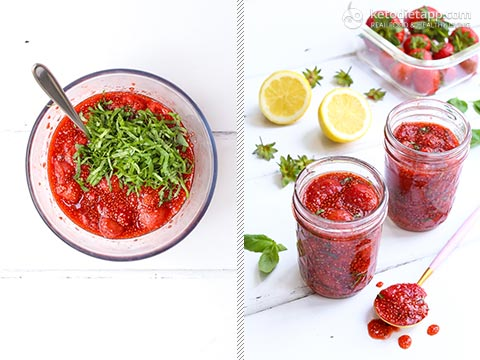 Low-Carb Strawberry & Basil Chia Jam