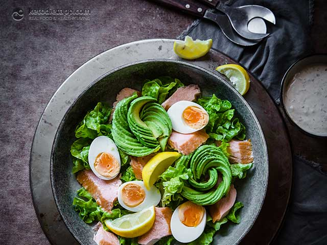 6-Ingredient Keto Smoked Salmon Salad