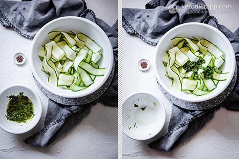 Low-Carb Zucchini & Mint Salad