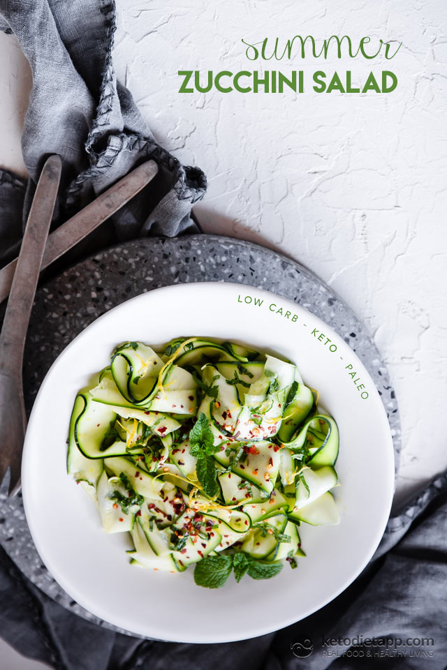 Low-Carb Zucchini & Mint Salad