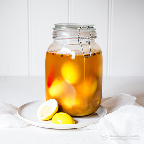 Low-Carb Curried Pickled Eggs