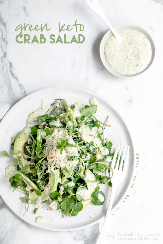 Keto Green Goddess Crab Salad
