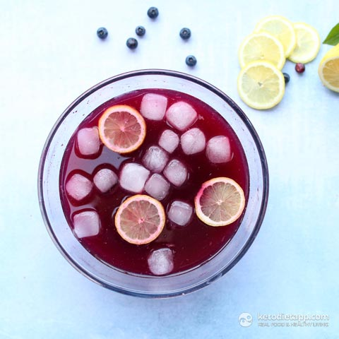 Sugar-Free Blueberry & Lemon Electrolyte Drink