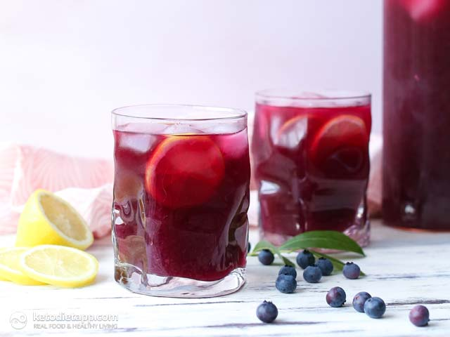 Healthy Blueberry & Lemon Electrolyte Drink