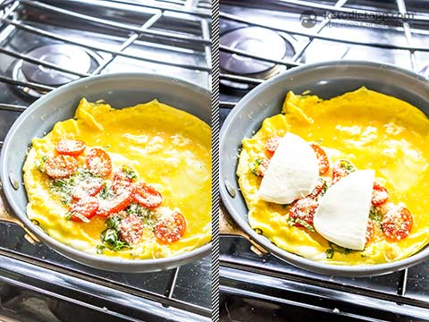 Healthy Low-Carb Caprese Omelet