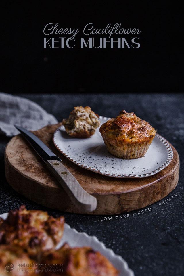 Keto Cheesy Cauliflower Muffins