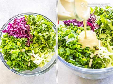 Healthy Cilantro Lime Slaw