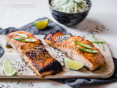 Low-Carb Ginger & Lime Grilled Salmon