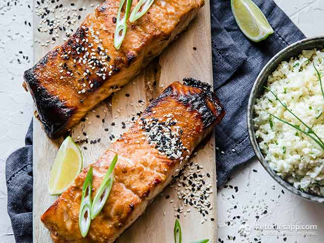 Keto Ginger & Lime Grilled Salmon