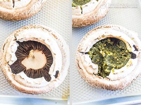 Keto Portobello Mushroom Mini Pizzas