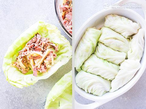 Keto Reuben Cabbage Rolls