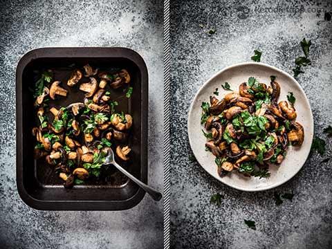 Low-Carb Smoky Roasted Mushrooms