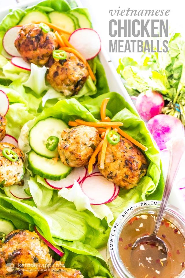 Keto Vietnamese Chicken Meatballs