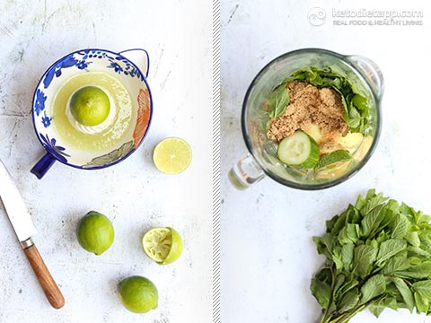 Low-Carb Cucumber Lime Cooler