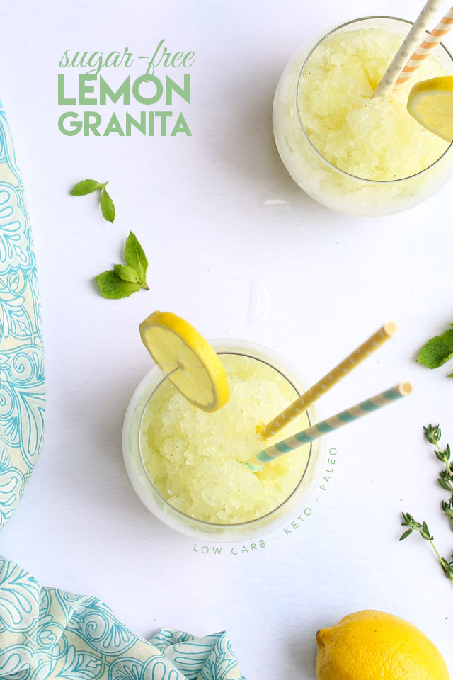 Sugar-Free Lemon Granita