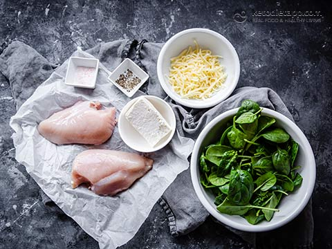 Keto Spinach & Feta Hasselback Chicken