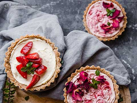 Keto Strawberry Cheesecake Tarts