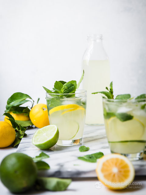 Healthy Low-Carb Lemon & Lime Cooler