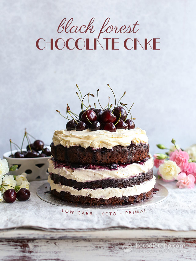 Astonishing Low Carb Black Forest Chocolate Cake Ketodiet Blog Birthday Cards Printable Benkemecafe Filternl