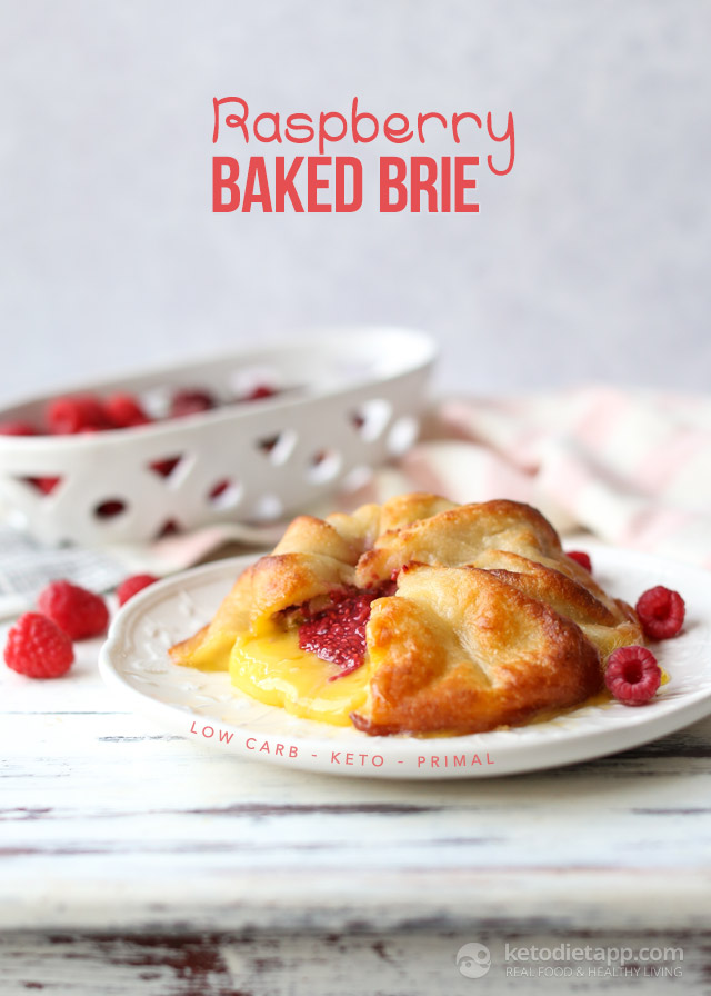 Low-Carb Raspberry Baked Brie
