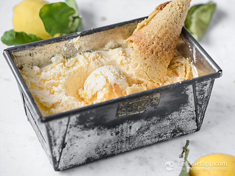No-Churn Low Carb Lemon Ice Cream