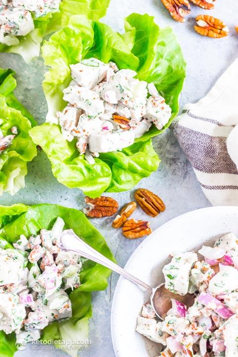 Low-Carb Chicken Pecan Salad