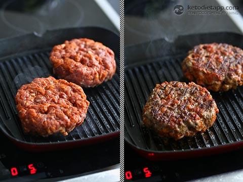 Healthy Chorizo Guacamole Bunless Burgers