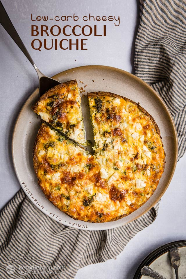 Low-Carb Broccoli Cheese Quiche