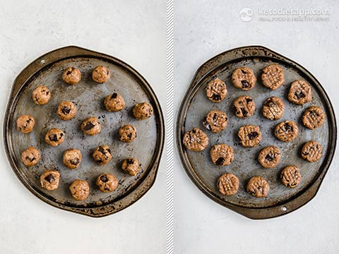 Healthy Low-Carb Chocolate Chip Cookies