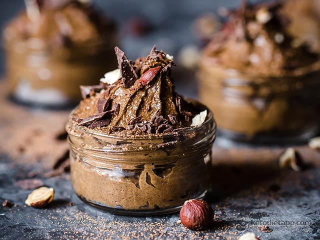 Low-Carb Chocolate Hazelnut Avocado Mousse