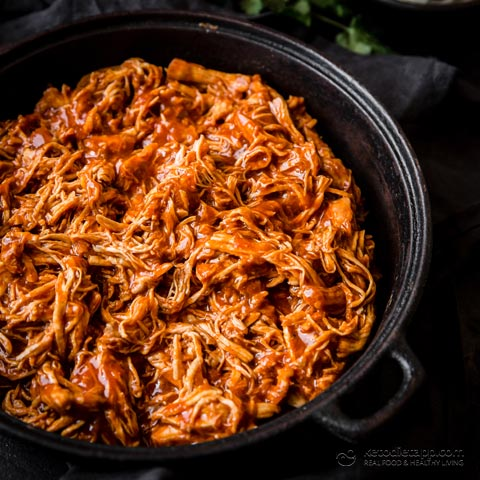 Low-Carb Sweet & Smoky Pulled Chicken