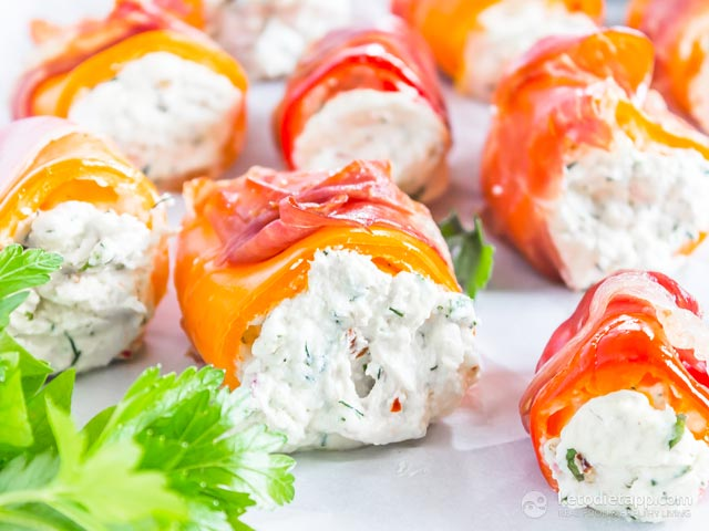 Healthy Prosciutto Goat Cheese Stuffed Peppers