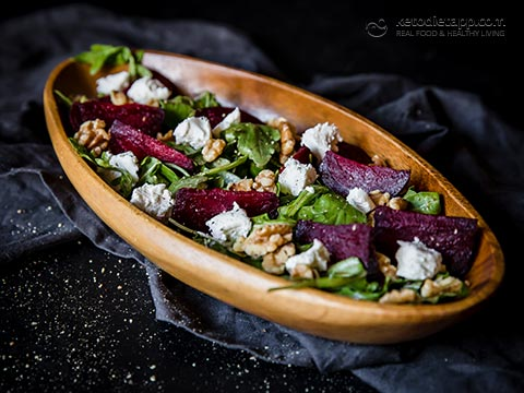 Healthy Roasted Beetroot & Goat's Cheese Salad